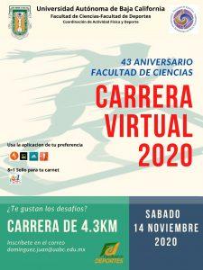 Carrera Virtual del 43 Aniversario de la Facultad de Ciencias