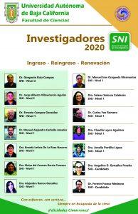Investigadores SNI 2020