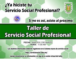 Taller de Servicio Social Profesional 2021-1
