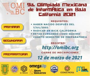 9na. Olimpiada Mexicana de Informática en Baja California