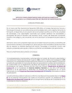 Convocatoria de Conacyt para estancias sabáticas en 2021