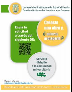 Registro de obras en INDAUTOR por medio del Departamento de Propiedad Intelectual y Transferencia de la UABC