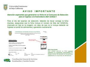 Atento aviso para aspirantes de nuevo ingreso a licenciatura 2021-2/2022-2