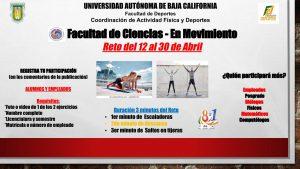 Facultad de Ciencias en movimiento – Reto del 12 al 30 de abril