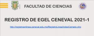 Atento aviso para los alumnos que realizaron el pre registro de EGEL CENEVAL Generación de egreso 2021-1.