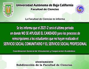 Atento aviso para alumnos que aun no hayan realizado su servicio social comunitario profesional