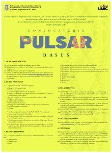 La convocatoria Pulsar está abierta desde el día de hoy y hasta el 8 de octubre de 2021.