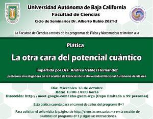 """Ciclo de seminarios Dr. Alberto Rubio, Seminario: """"La otra cara del potencial cuántico"""""""